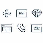 Iconos de lenguajes de programación