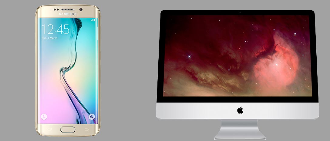 iMac y Galaxy S6
