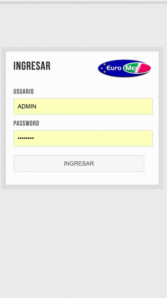Acceso a sistema Euromex