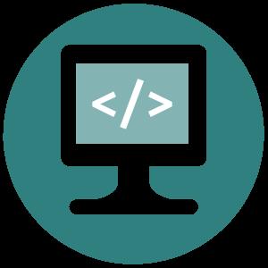 Icono pantalla con código